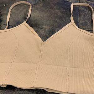 Free People Intimates & Sleepwear - *NEW* Free People Low Back Crop Bralette- Nude